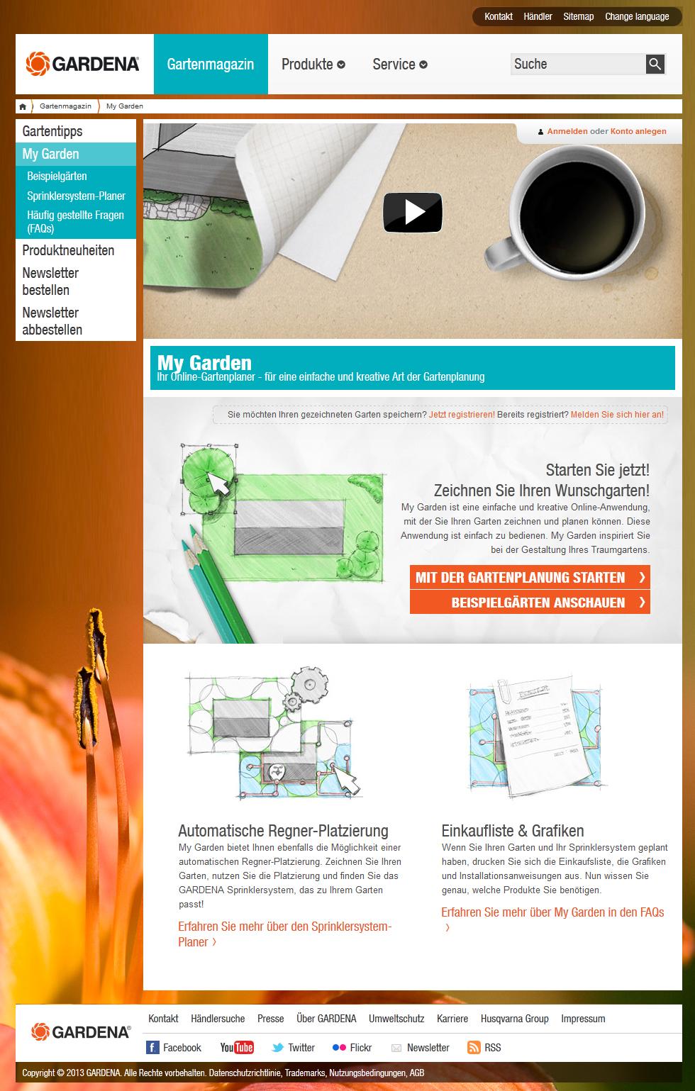 Gardena: Kreativ und online den Garten planen - Innovationsregion Ulm Wand
