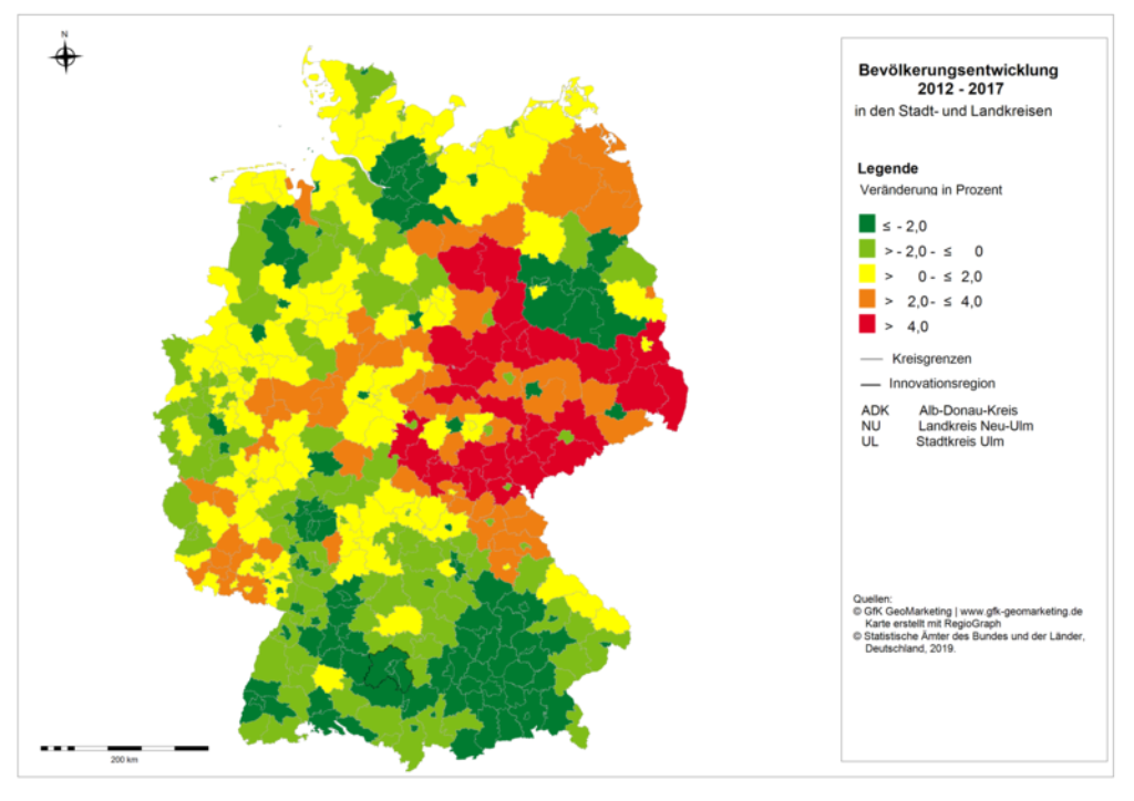 Graphic population development Germany